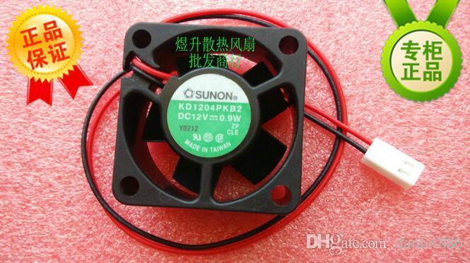 Original SUNON 4020 DC12V 0.9W 4CM 40 * 40 * 20MM KD1204PKB2 Ventilador de flujo axial de 2 hilos