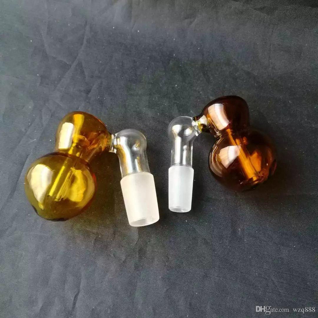 Gourde polychromatique Gros bongs en verre Brûleur à mazout Tuyaux d'eau en verre Oil Rigs Fumer Gratuit