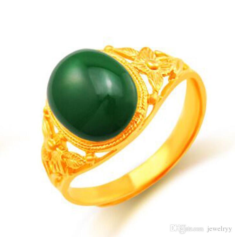 Anelli placcati oro del Rhinestone di modo dell'anello del fiore della cavità dell'annata per i monili interi economici del partito della festa nuziale delle ragazze e di trasporto libero