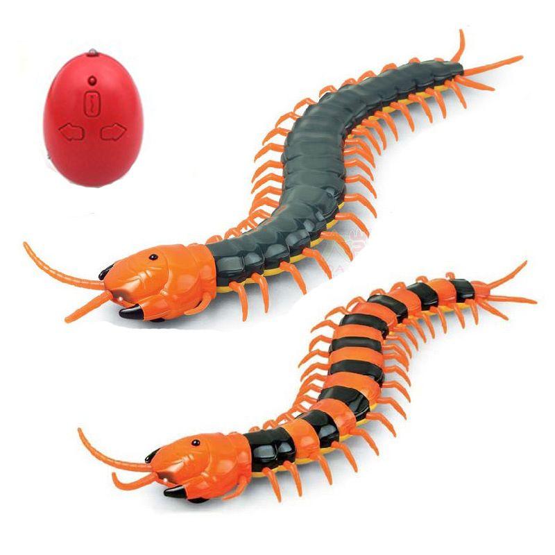 개 장난감 전동 RC 지네 가짜 곤충 원격 제어 지팡이 크리 에이 티브 전기 어렵군 재미 고양이 개 완구