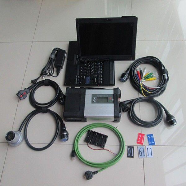 2018 Meilleur scanner c5 diagnostic mb étoile wifi sd c5 connexion avec c4 SSD 2017.12v multi langues hdd + X200t ordinateur portable ensemble complet