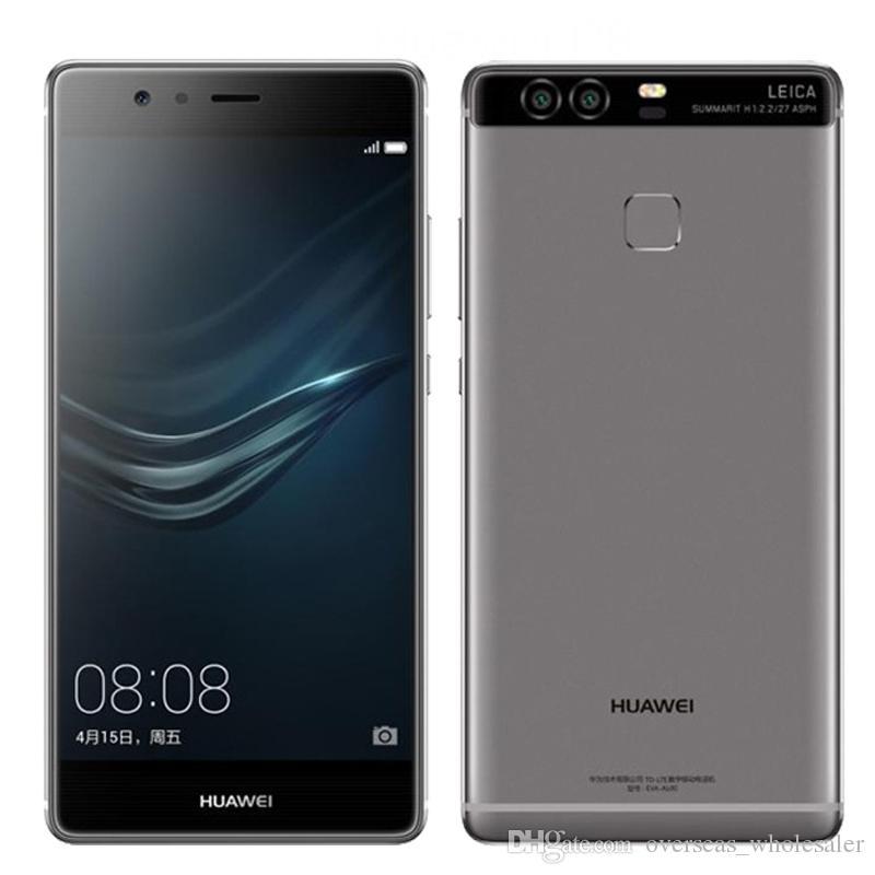 Original Huawei P9 4G LTE Cell Phone Kirin 955 Octa Core 3GB RAM 32GB ROM Android 5.2 inch 12.0MP Fingerprint ID Smart Mobile Phone
