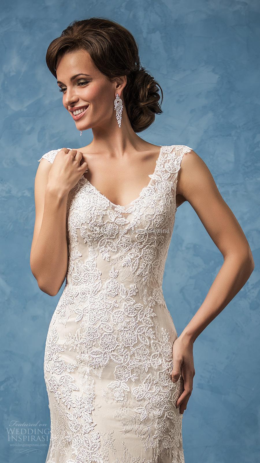 Mermaid Wedding Dresses 2017 Amelia Sposa Bridal Gowns Cap Sleeves ...