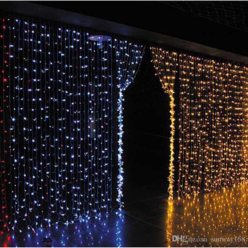 Luci per tende luci di natale 10 * 8m 10 * 5m 10 * 3m 8 * 4m 6 * 3m 3 * 3m luci a led Lampada per ornamento natalizio Flash colorato Fata Decorazioni di nozze