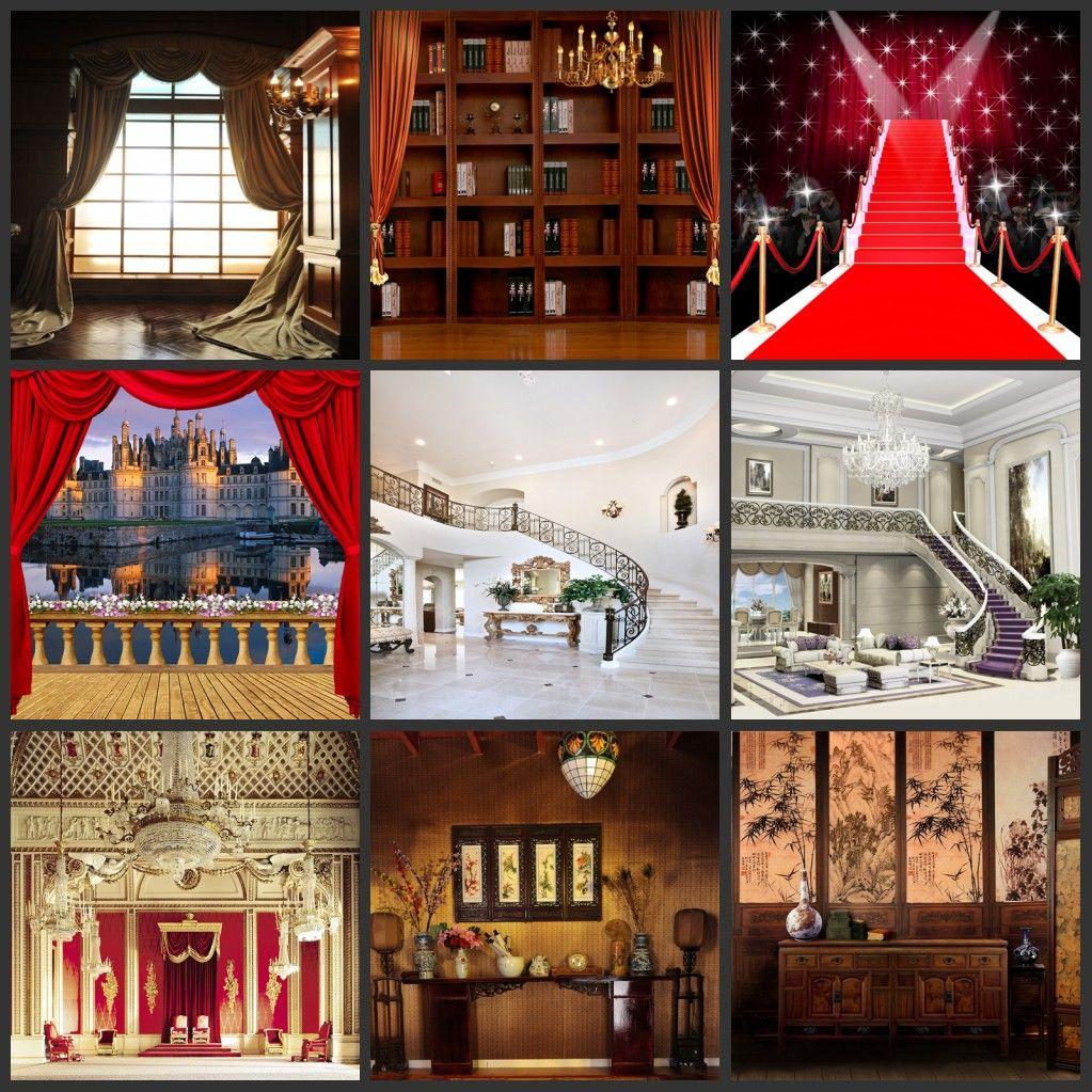 Оптовая пользовательские 5x7FT флэш-красный ковер церковь балкон живописные фотографии фонов для свадебных фотографий камеры цифровой фон фон