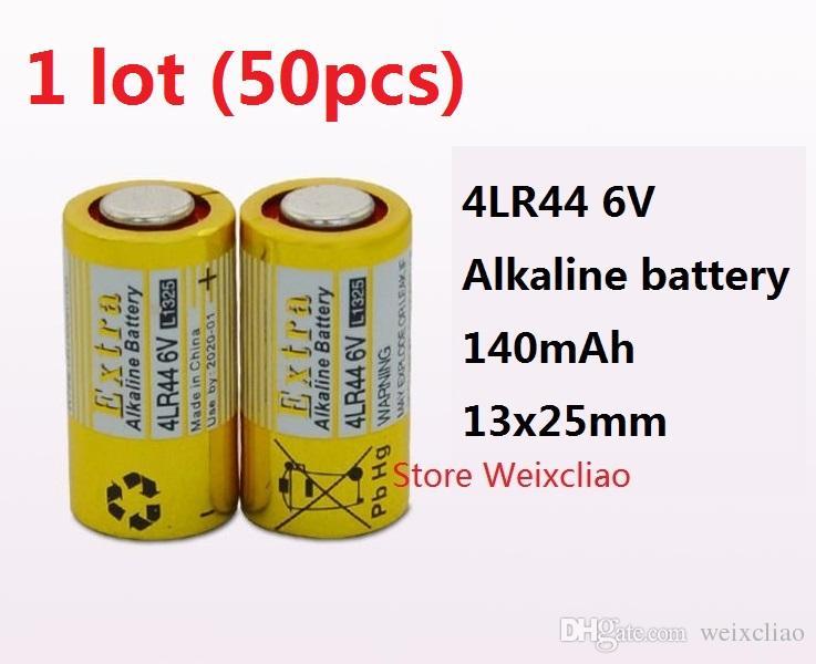 50 stücke 1 los 4LR44 476A 4A76 A544 V4034PX PX28A L1325 6 V trockenen alkalischen batterie 6 Volt Batterien Kostenloser Versand