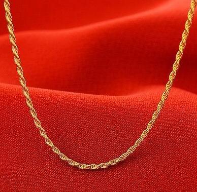 NUOVO ARRIVO 14K Collana in oro giallo / Collana a catena con corda / 5-6 g