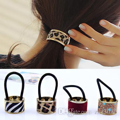 Hot Sales Fashion Plastic Print Hair Rope Elastici fasce per capelli in gomma Fasce per le donne Accessori per capelli cravatta coda di cavallo per le ragazze