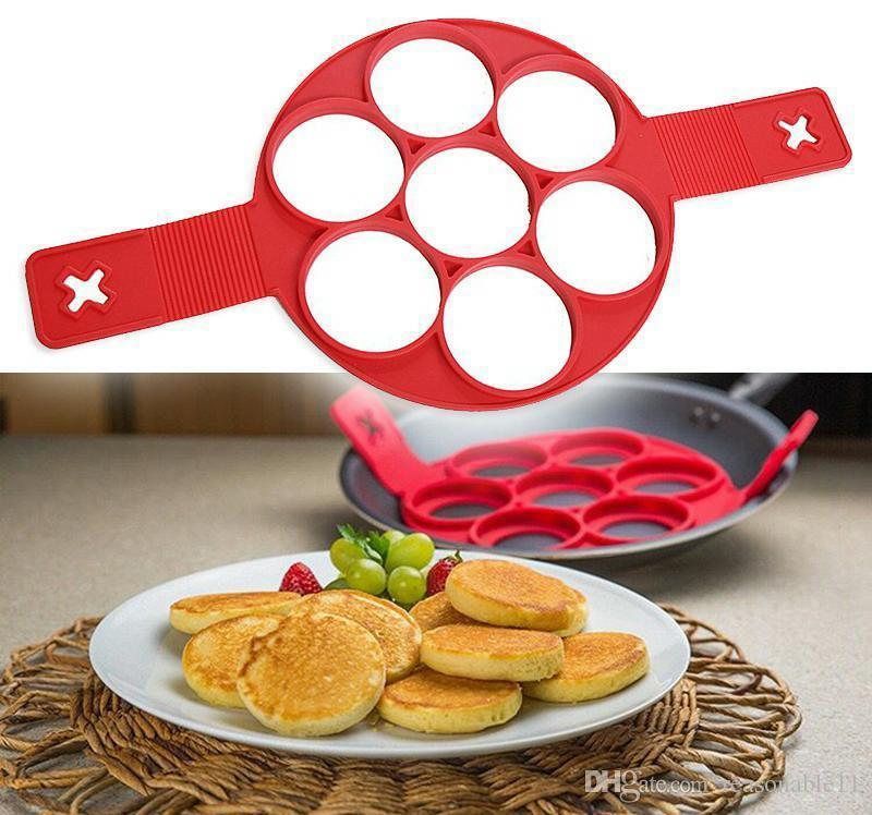 Pancake Flippin/' Silicone Mold Nonstick Baking Waffle Egg Cake Form