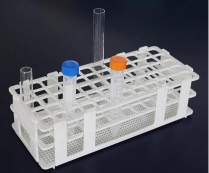 Rack de Tubo de Ensaio Plástico para 16mm * 60 Poços, Branco, Destacável (60 Buracos), caixa de tubo de 15ml.
