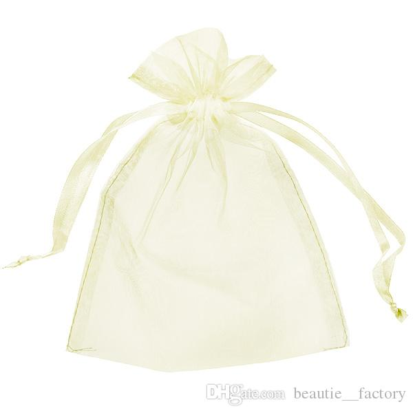 200 шт. Симпатина Organza Bag Bag Bag Dipp Word Walber 9x12cm