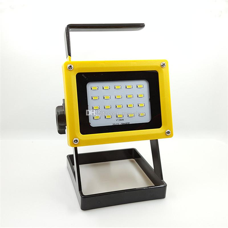 10W Portable Cordless LED Flood Light IP65 Mini Rechargeable SMD Flood Lamps for Night Fishing Camping Hiking Outdoor Lighting