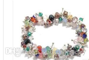 Chaming Färgglada Crystal Beads Chain Women's Armband (Xysppha)