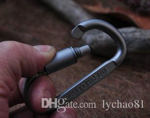حلقة تسلق حلقة مفاتيح مفتاح سلسلة الرياضة في الهواء الطلق كامب المفاجئة كليب هوك سلاسل المفاتيح المشي المشي الألومنيوم معدن الفولاذ المقاوم للصدأ التخييم المشي
