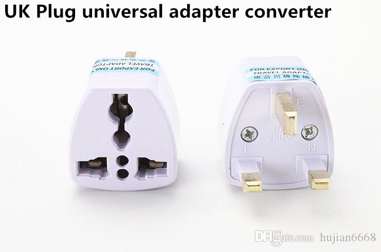 1000 unids EE. UU. UE AU Reino Unido Adaptador de Enchufe Reino Unido Universal Adaptador de Corriente de Viaje de CA Convertidor Eléctrico
