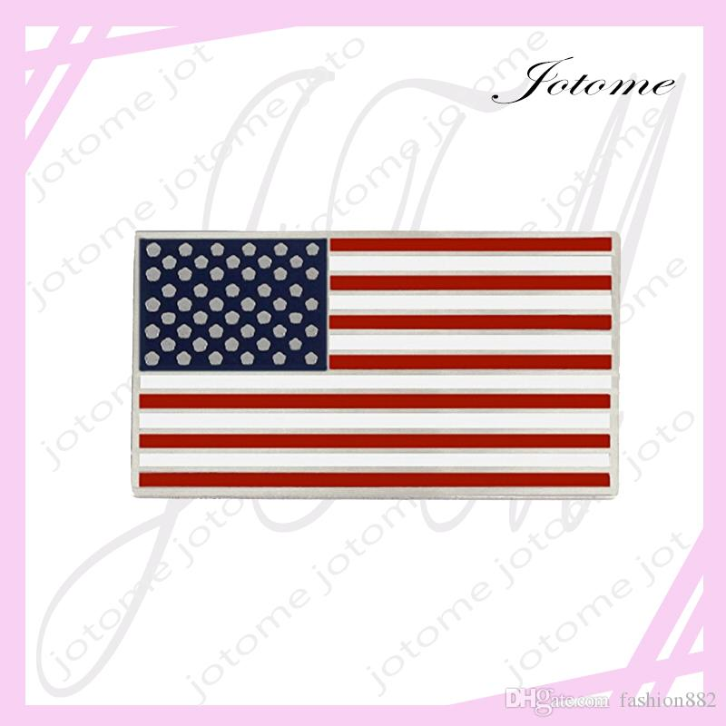 100 Adet / grup 2017 Sıcak Satış Toptan Çin Fabrika Yapımı ABD Vatanseverlik Için Amerikan Bayrağı Pin