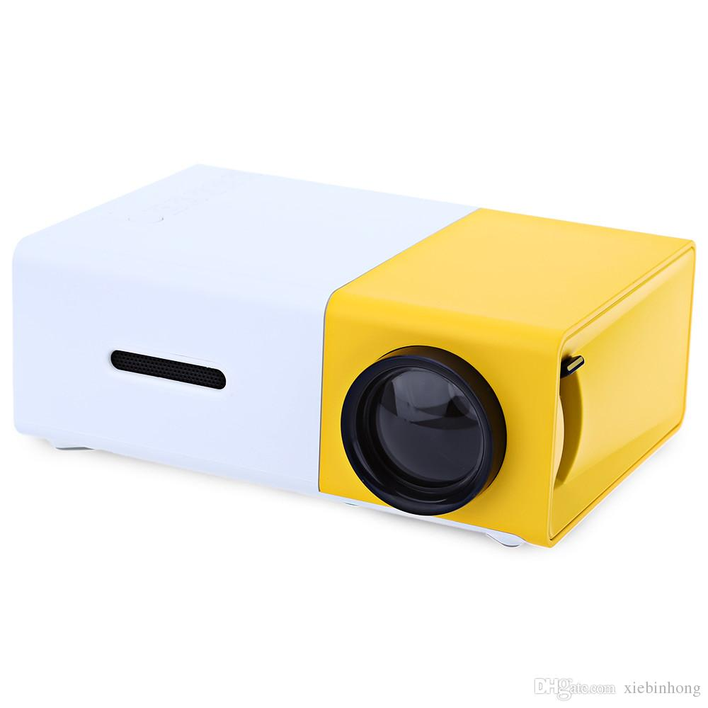 YG300 YG310 portable mini LCD Projector 400 - 600 Lumens 320 x 240 Pixels 3.5mm Audio/HDMI/USB/SD Inputs Media Proyector/Beamer