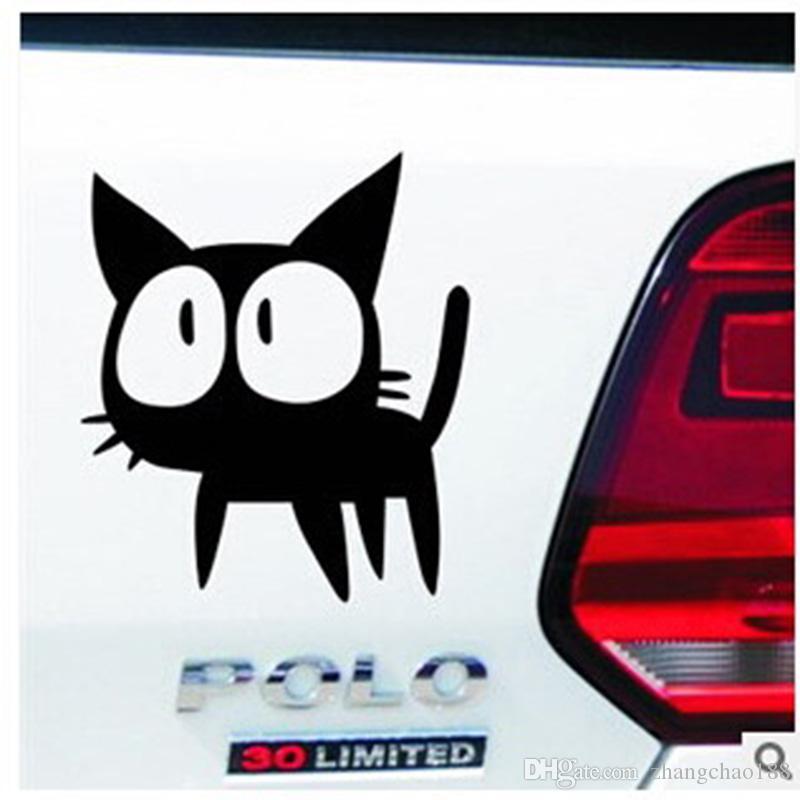 1 unid Automóviles Accesorios Exterior Personalidad Calcomanías Reflectantes de Coche 15 cm * 12 cm Catoon Gato Pegatinas de Coche Vehículo Pasters Auto Etiqueta