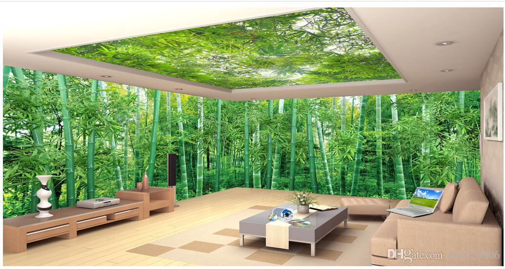3d room wallpaer custom mural photo Panoramic natural scenery bamboo forest landscape painting 3d wall murals wallpaper for walls 3 d