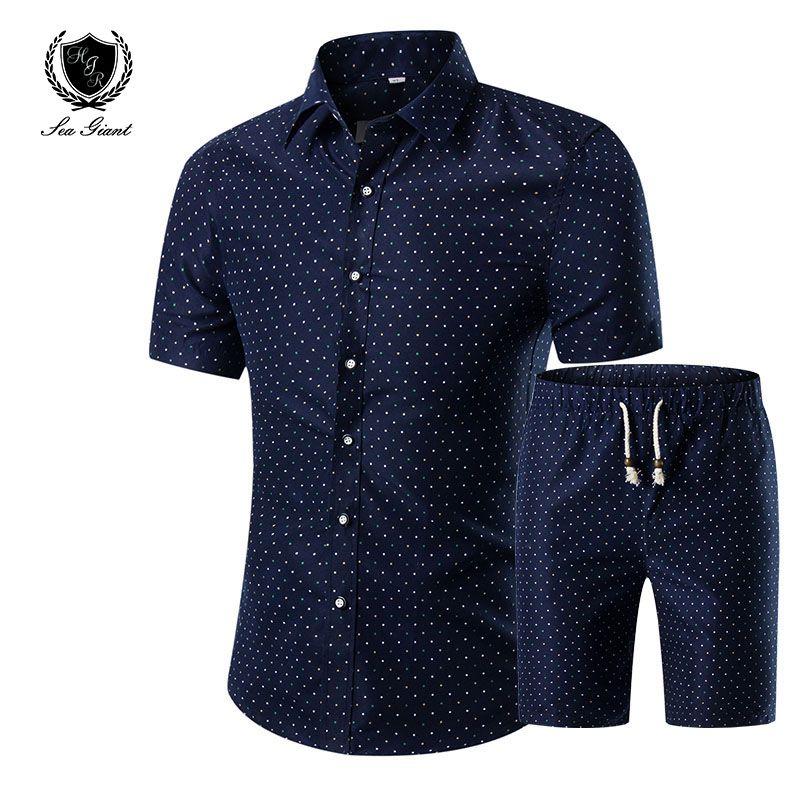 بالجملة، HOT! الأكمام الصيف قميص بدلة رجالية الزخارف قمصان أوم الراقية سليم 100٪ القطن ذكر قميص حجم الاجتماعية 5XL