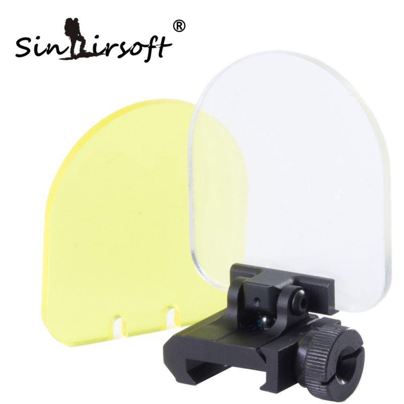 Sinaairsoft جديد عدسة غطاء حامي غطاء للطي ل الادسنس 551 552 553 556 557 نطاق أحمر أخضر دوت البصر الأسود الصيد