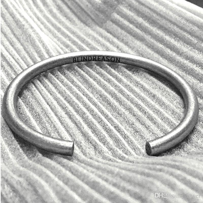 Il popolare popolare 1314 di stile coreano e bracciali del polsino delle donne retro argento unisex inossidabile del braccialetto dell'acciaio inossidabile accessori dei monili