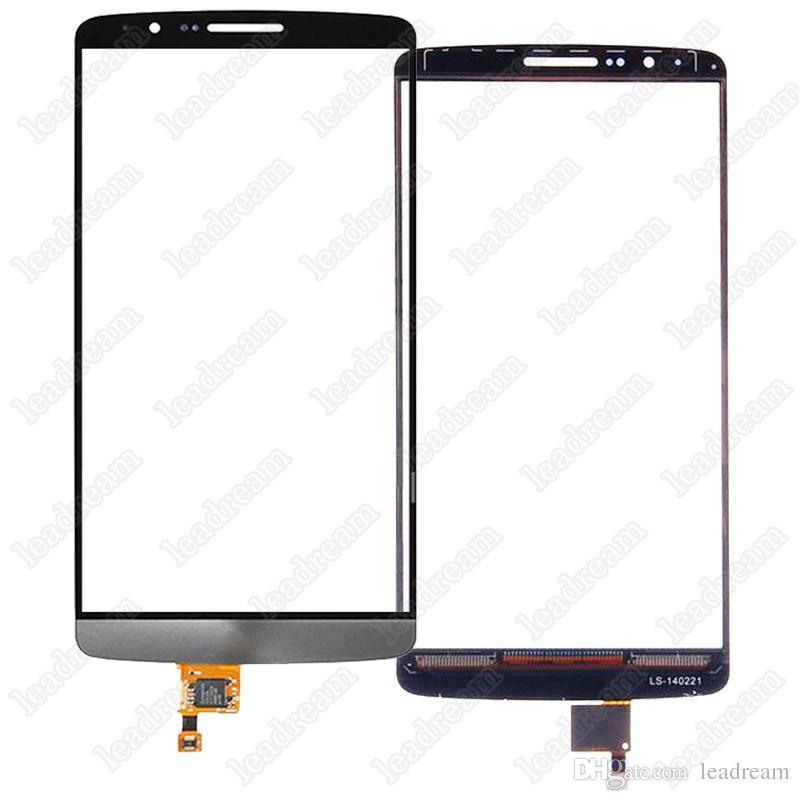 30 pcs oem touch screen digitador lente de vidro para lg g3 d850 d855 substituição livre dhl