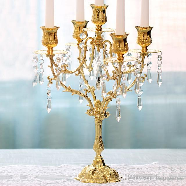 Crystal Tabletop Candle Holder 3-Head Wedding Party Event Centerpiece Candelabra
