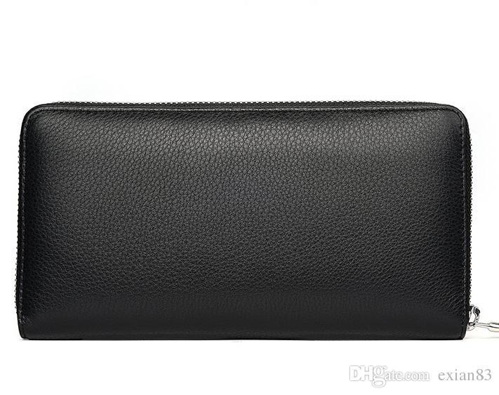 Ausgezeichnet ! Mode wasserdichte Leinwand und echtes Leder Zippy Zip-Brieftasche