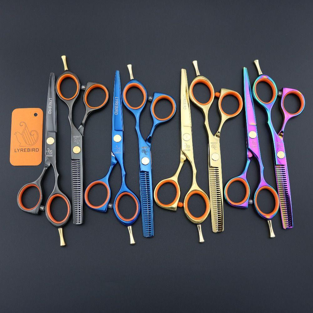 Hair scissors 5.5 INCH Black scissors LYREBIRD tesoura de cabeleireiro profissional golden screw Simple packing NEW