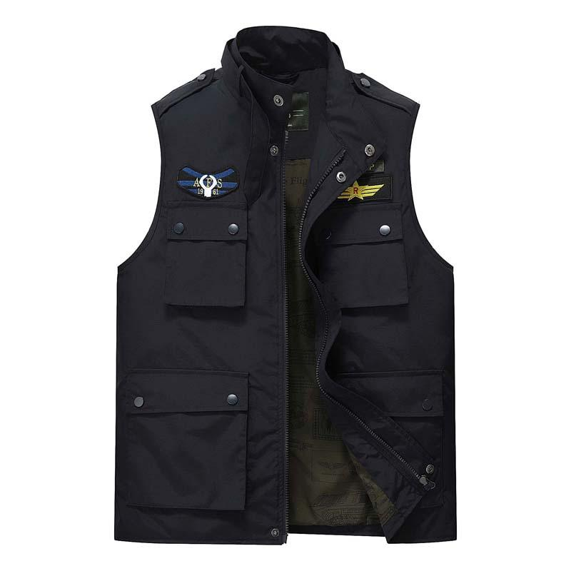 bd4002590 2019 AFS JEEP Bomber Jacket Men Mesh Vest New Brand Multi Pockets Versatile  Photography Working Quick Dry Gilet Sleeveless Waistcoat From Xmlarge, ...