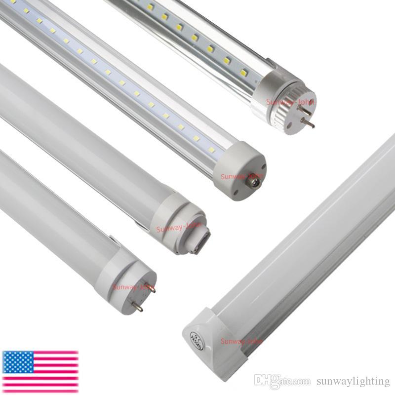 8FT T8 LED Tubes Light bulbs 45W FA8 R17D G13 Rotating Single pin 8 Feet Integrated LED bulbs tubes T8 Fluorescent Lamps AC85-265V