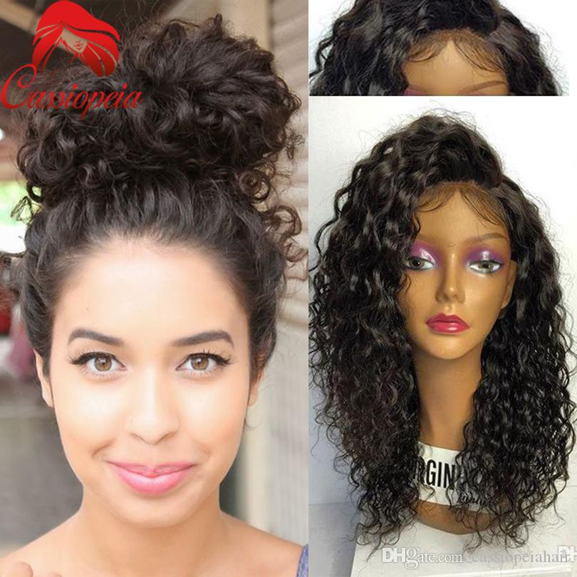 8A Full Lace Human Hair Wigs For Black Women Loose Curly Lace Front Wigs Brazilian Virgin Glueless Top Quality Wigs Free Shipping