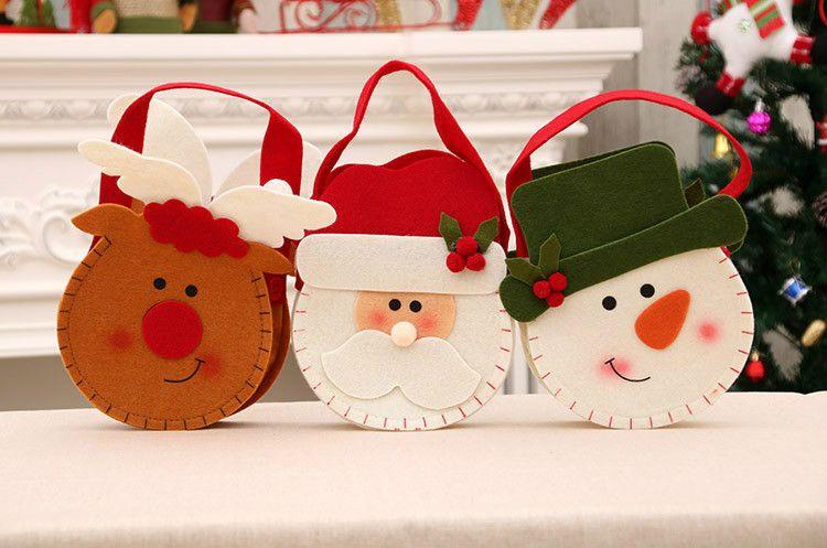 Tissu Père Noël cadeaux sac dans 3 modèles pour Chirstmas décorations maison décorations de bonne qualité livraison gratuite