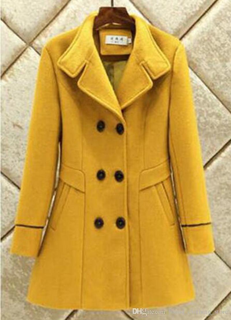 ヨーロッパとアメリカンファッションホットスタイルファインロング冬の高級布トレンチコート/ M-3XL