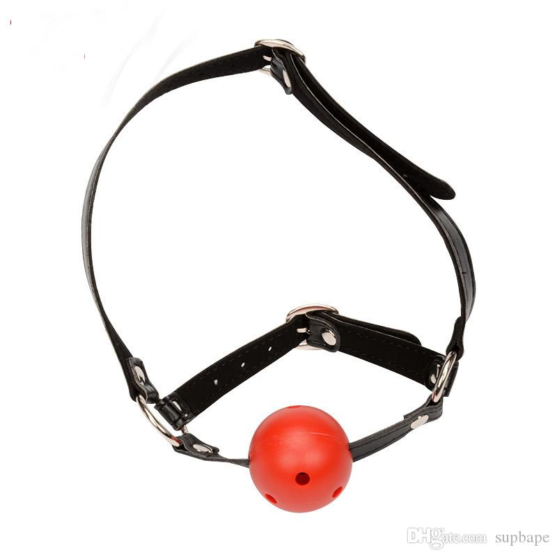 Free Shipping Mini Soft Silicone Ball Mouth Gag Ball Gag Black Red Pink Bondage Gag Ball Sex Toy Adult Toys