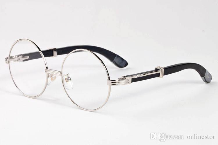 Yeni Varış Tam Çerçevesiz Güneş Kadınlar Moda Erkek Spor Vintage Güneş Gözlükleri Erkekler Beyaz Ahşap Çerçeve Şeffaf Lens Bufalo Gözlükler