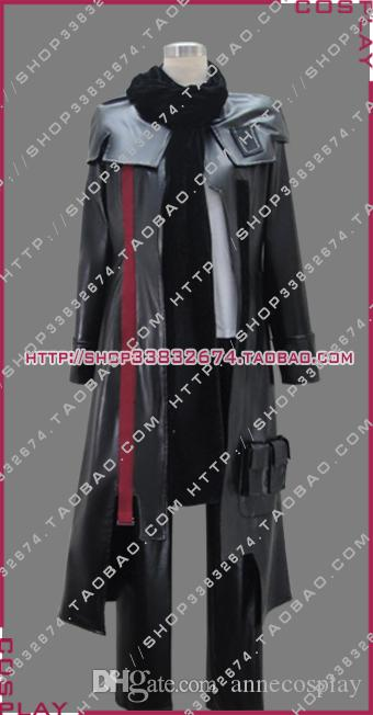 косплей костюм Guilty Crown Ouma Shu черный боевое снаряжение