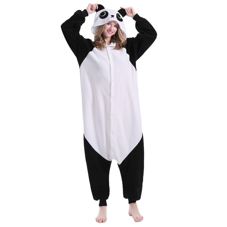 scarpe di separazione f629d 7a29b Acquista Mejorhome Pigiama Animale Adulto Unisex Panda Flanella Costumi Di  Sonno Bel Costume Mascotte Confortevole Famiglia Regali Di Natale Pigiama  ...