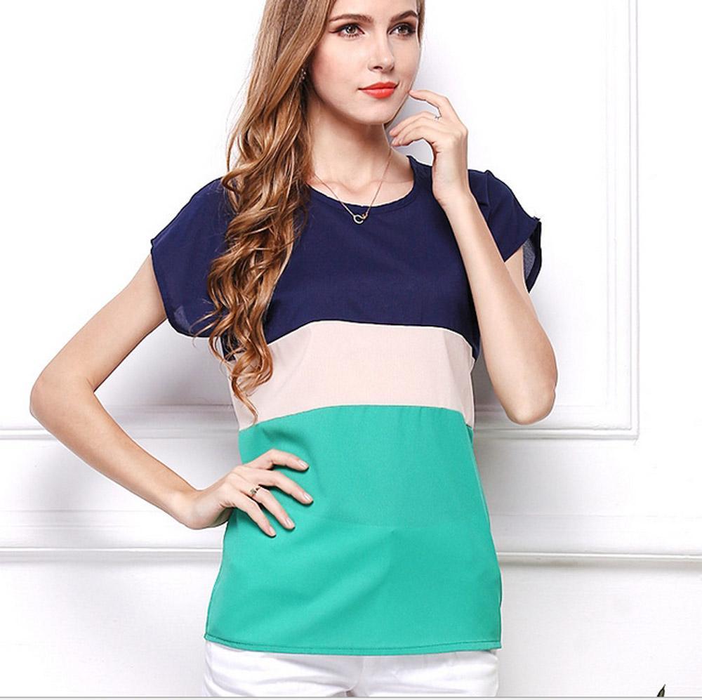 New Design Summer Chiffon T Shirts Womens Fashion Tshirts Short Sleeve O Neck Teeshirts Plus Size Ladies Tops Casual Tees S M L Xl 2xl 3xl Design Shirt Formal Shirt From Brand Quikduang