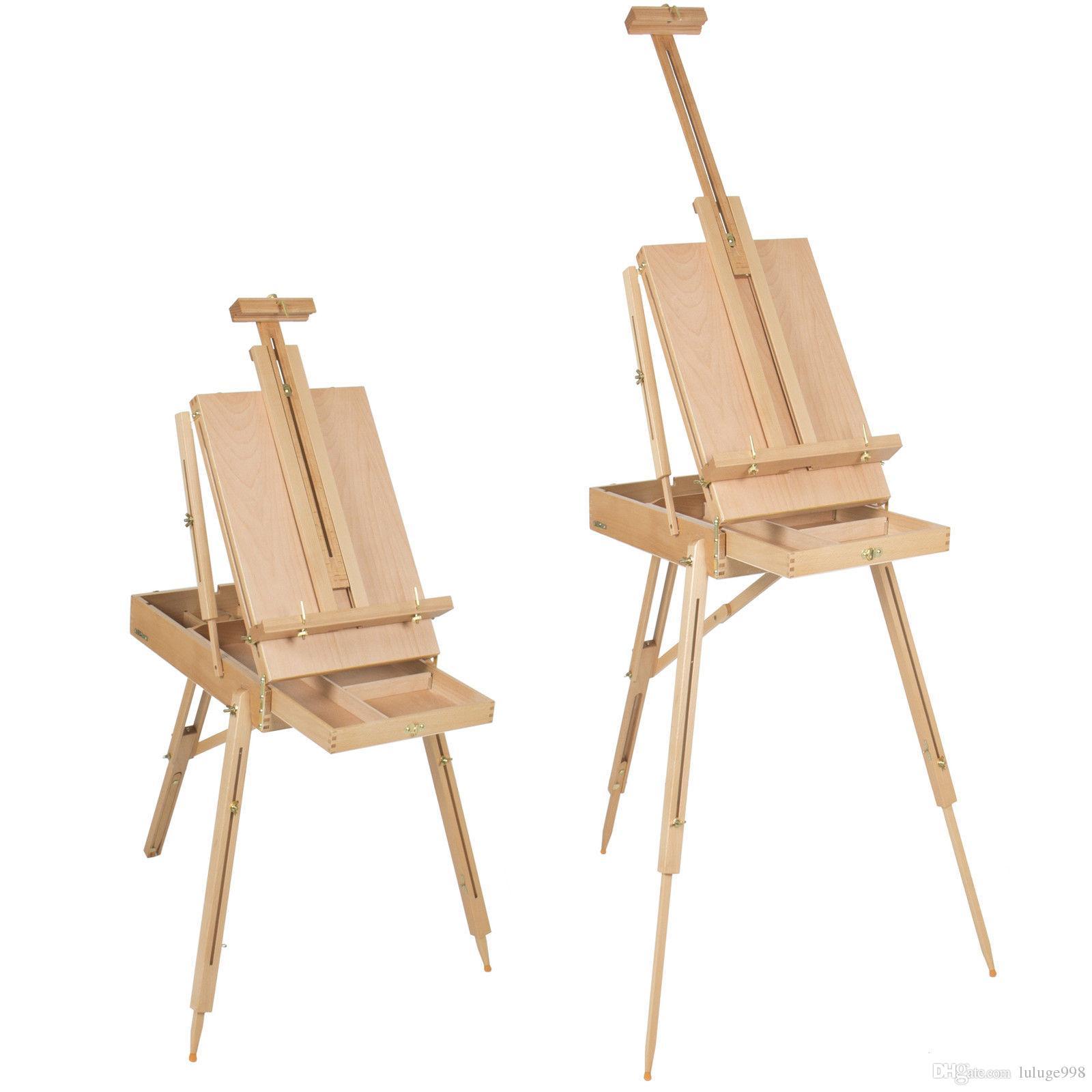 الفرنسية الحامل الخشبي رسم صندوق محمولة قابلة للطي الفن الفنان الرسامين ترايبود جديد