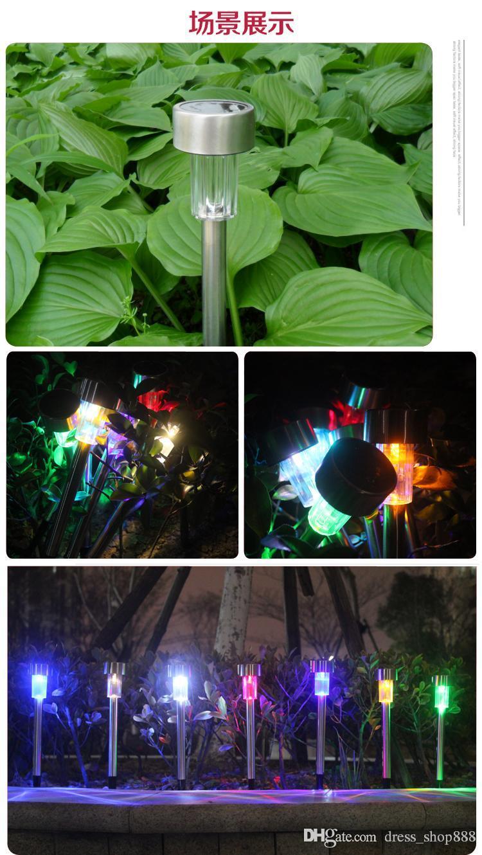 Solar Street Light Control LED Gazon Tuin Landschap Tuinverlichting Tuinverlichting Multicolor Optionele Plug Lights