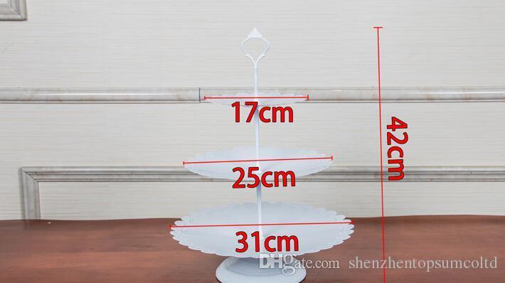 Bolo de metal de ferro de Ouro ficar conjunto 7 peças de casamento cupcake tray placa de festa de aniversário ferramentas de decoração do bolo bakeware dinnerware