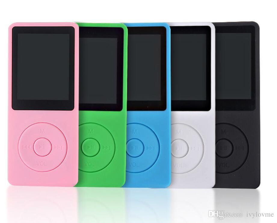 50pcs 새로운 내장 스피커 MP3 음악 플레이어 8 기가 바이트 저장 및 1.8 인치 스크린 FM 보이스 레코더 다기능 미디어 플레이어