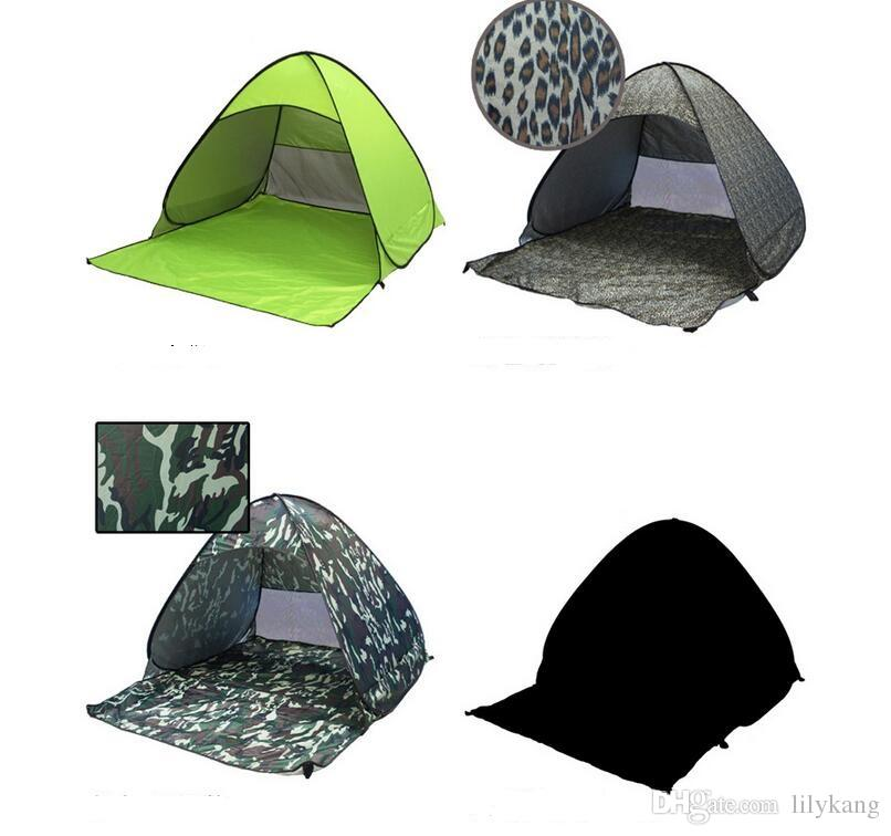 Outdoor 2 quick open automatic beach tent garden sun shading double beach tents super light picnic waterproof fishing Tents and Shelters