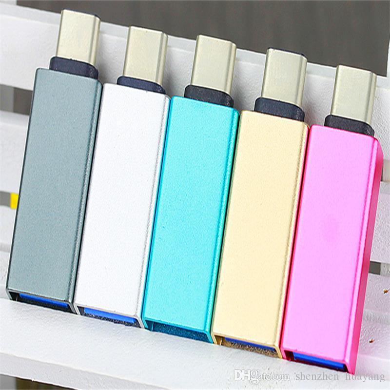 Metal USB-C Tipi C Erkek USB 3.0 Kadın xiaomi 4c Tip-C Dönüştürücü Adaptör OTG Fonksiyonu için Macbook 12 inç