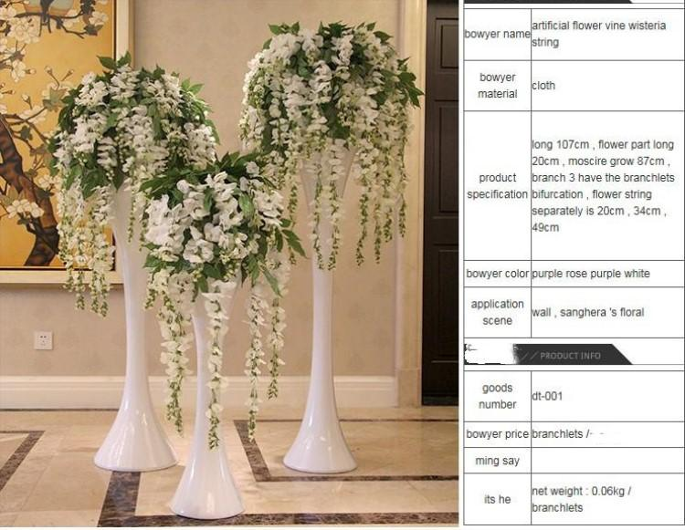 Best artificial ivy wisteria silk flower vine garland for wedding if you want to mix color please leave the messages what color you wanted thank you mightylinksfo