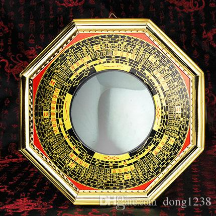 Feng shui bagua ayna madalyon bagua ayna dışbükey içbükey ayna lens pusula dışbükey lens feng shui malzemeleri dekorasyon