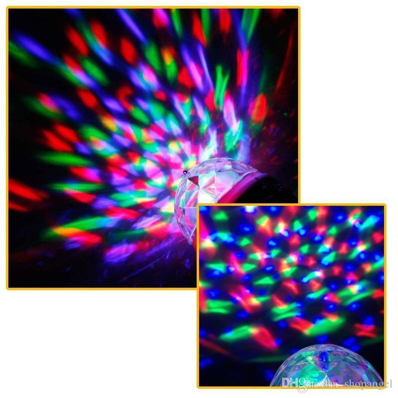 USB Voice Flash KTV MiNi LED Small Magic Ball Voice Control Rotating Colorful KTV Flash Stage Light for Q7 microphone mobile phone
