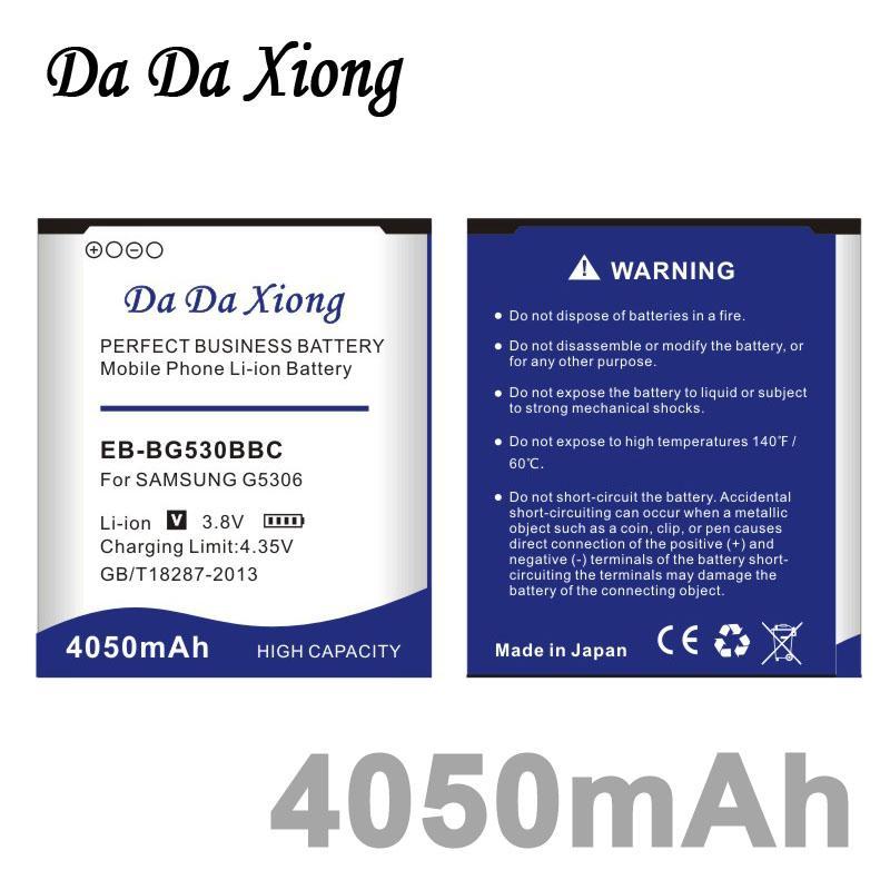 Da Da Xiong 4050 mAh EB-BG530BBC Bateria para Samsung Galaxy Grande Prime G5306 G5306 G530H G530F G530FZ G5308W G5308W etc